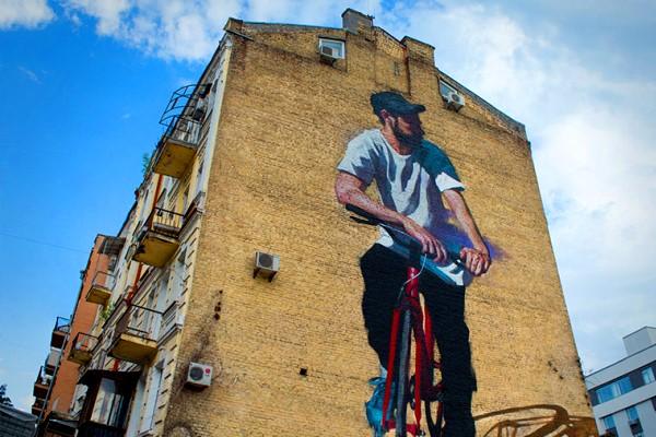 Street art - mural in Kiev