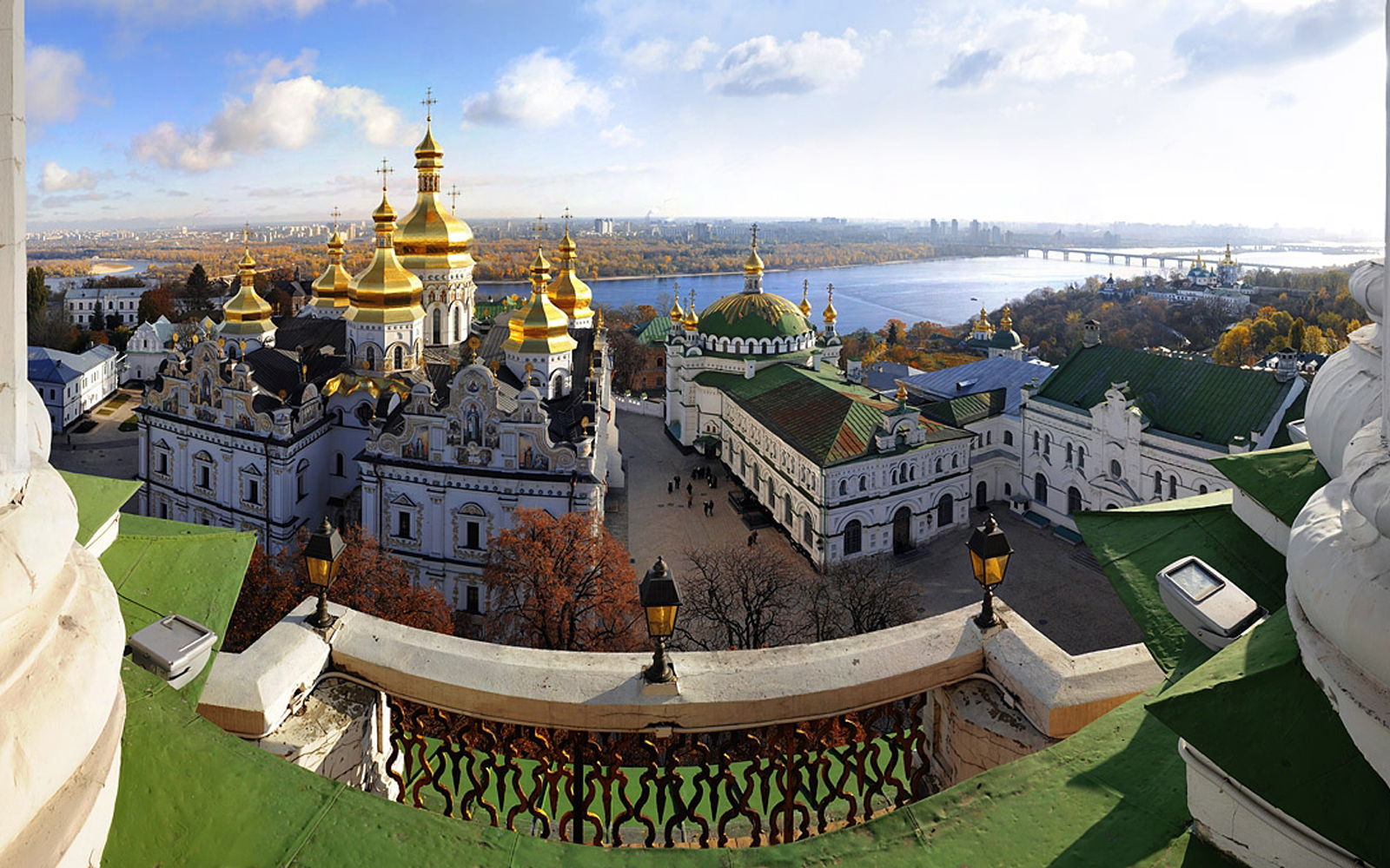 Kiev Pechersk Lavra, view from the Bell Tower. You can order Lavra Tour by Guide me UA in Kiev