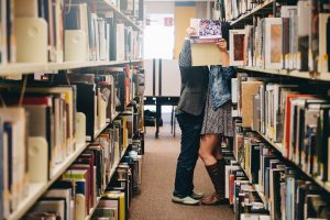 Kisses in the Library in Kiev