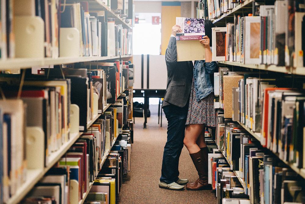 Kisses in the Library in Kiev