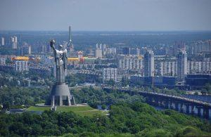 The Motherland Monument in Kiev