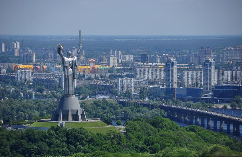 The Motherland Monument in Kiev