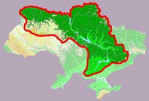 Dnieper River map