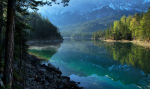 Synevyr Lake in Ukraine