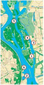 Dnieper River map in Ukraine