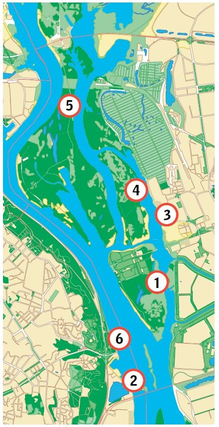 Dnieper River map in Ukraine