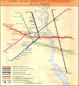 Old Kiev metro map