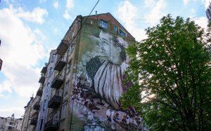 Lesya Ukrainka Mural in Kiev