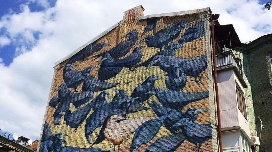Famous Kiev ravens