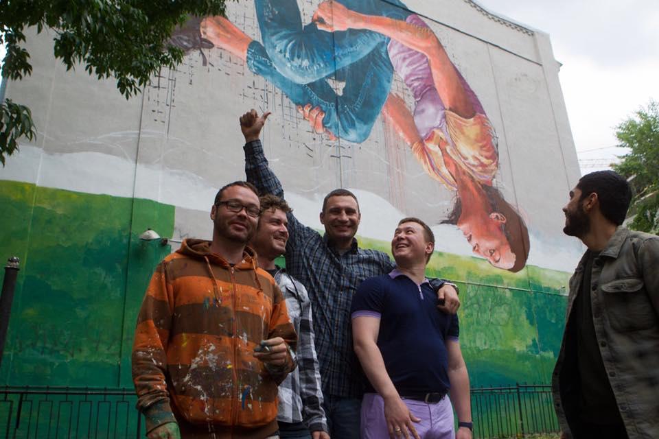 Klichko opens Mural inb Kiev
