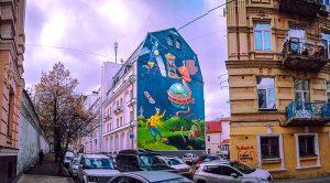 Street art of the capital of Ukraine - Kyiv