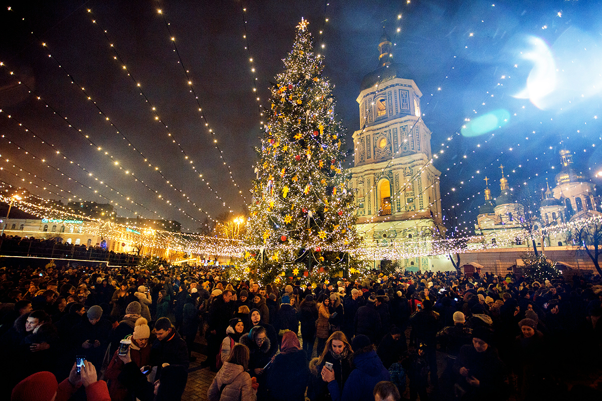 New Year in Kiev Ukraine