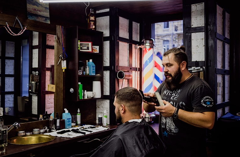 Barbershop in Kiev