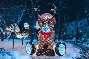 Festive Kiev in winter