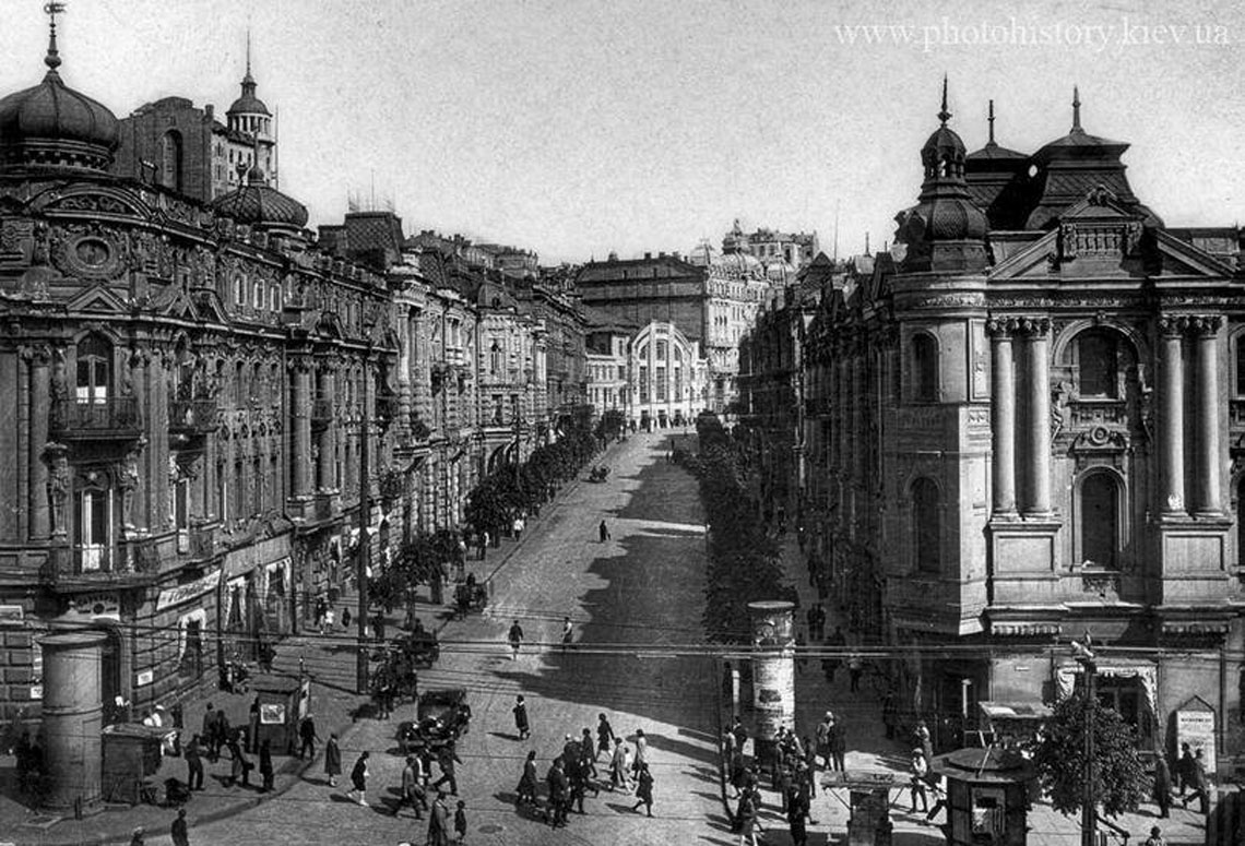 Khreschatyk street is the main street of Kyiv - BEFORE the WAR