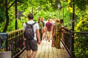 Bridge of love in Kiev