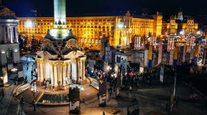 Maidan Nezalezhnosti is the central square of Kiev