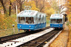 Kiev funicular (the lower metro station)