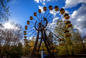 Chernobyl exclusion zone in Ukraine
