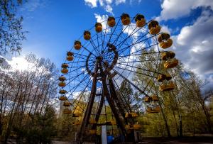 Chernobyl exclusion zone in Ukraine