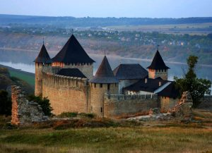 Hotyn castle in Ukraine