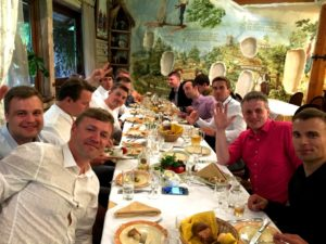 Tasting of Ukrainian cuisine for guests from Estonia