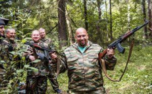 Shooting automatic rifles in Kiev