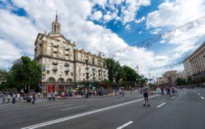 Khreschatyk main street of Kiev