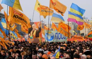Orange revolution in Ukraine