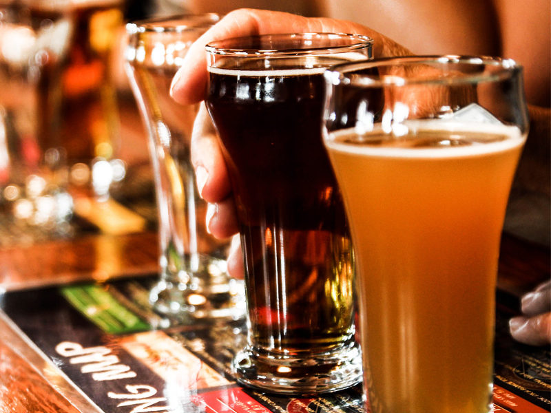 Beer Tasting in Kiev while the Private Pub Crawl