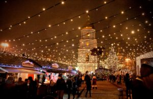 Christmas Market on St Sophia Square in Kyiv
