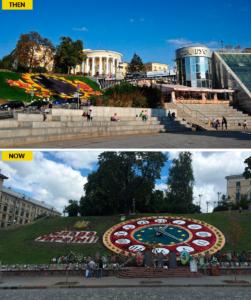 Center of Kiev after revolution - How it changed #10yearschallenge