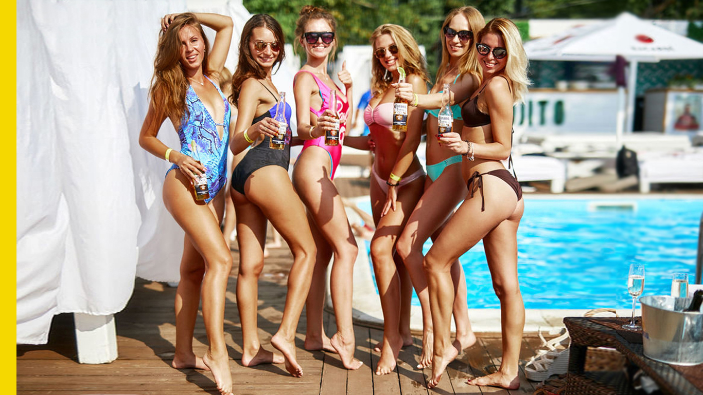 Beach clubs in Kiev in summer