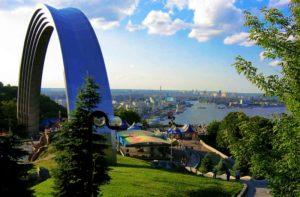 Beautiful panorama of Kiev