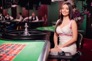 Ukrainian girl in Casino