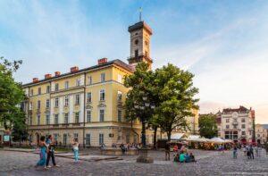 Lviv Hall Town Belltower